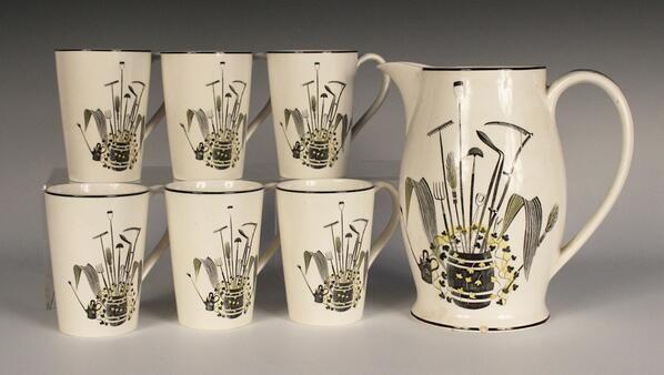20th Century Wedgwood, a lemonade set by Eric Ravilious from 1939 via @designtwenty #twitter