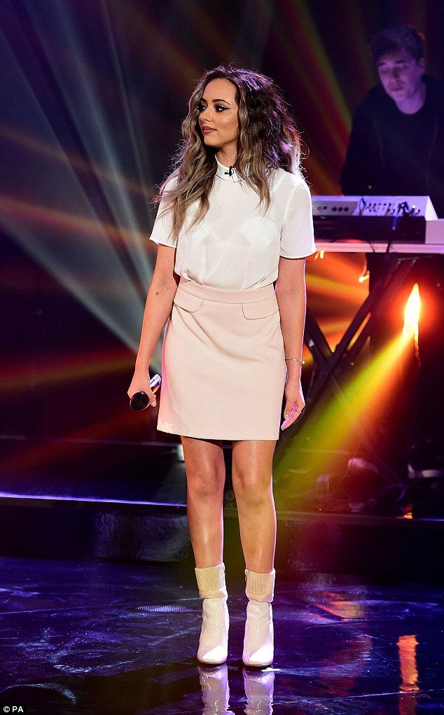 Demure and cute: Jade Thirwall took a slightly different approach to her on-stage ensemble...