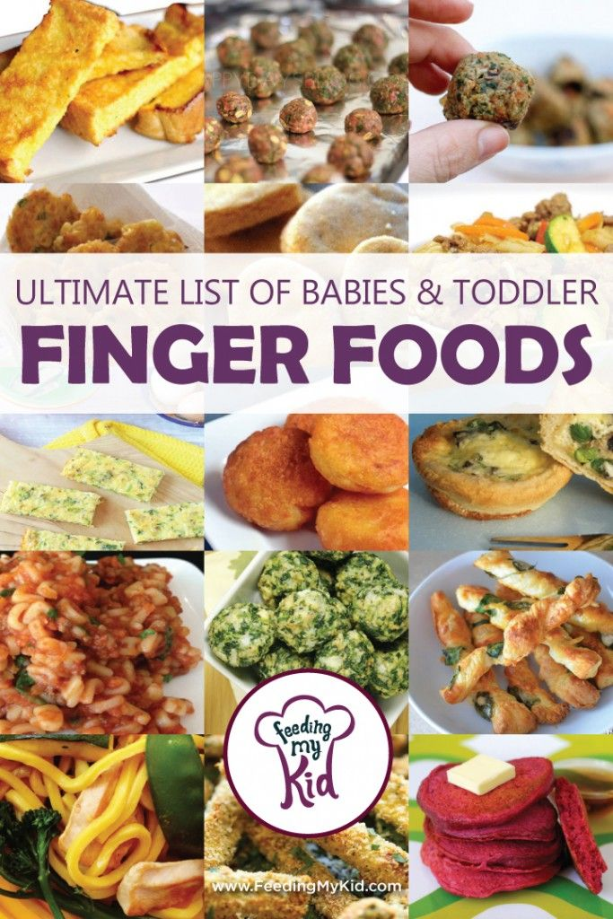 Ultimate List of Baby and Toddler Finger Foods Baby Lead Weaning and Finger Foods for Babies and Toddlers. Check out our mega list of easy and healthy finger foods for you little one!: