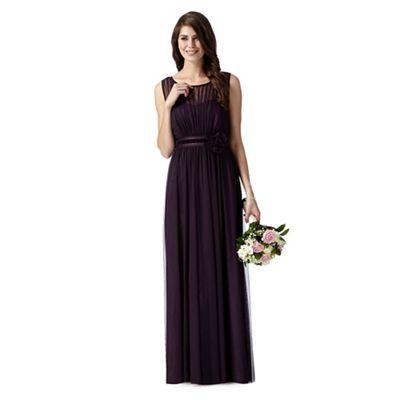 Debut Purple mesh corsage maxi evening dress- | Debenhams