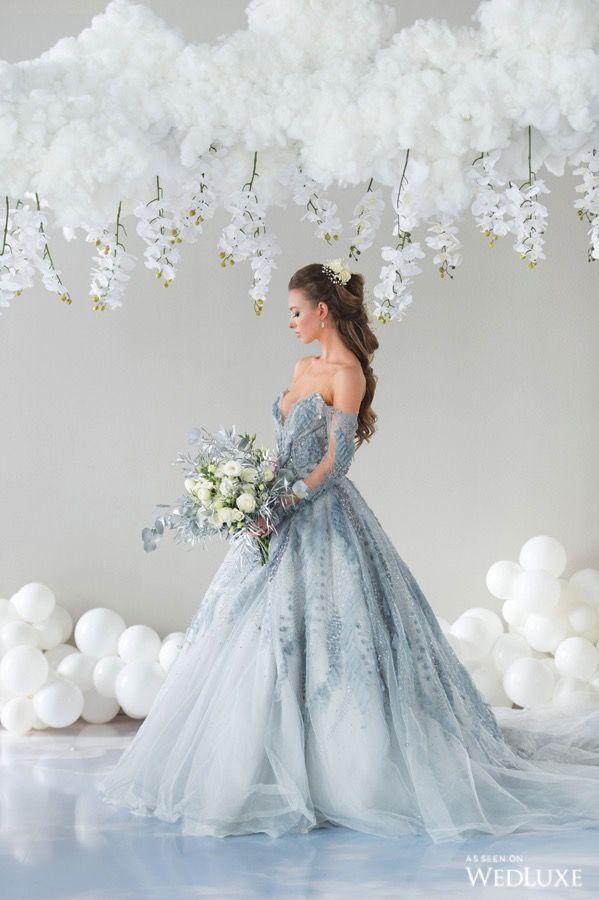 On Cloud Nine | Blue wedding dresses