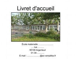 Circonscription d'Argenteuil sud - Inspection de l'éducation nationale du Val-d'Oise - Un exemple de livret d'accueil pour la maternelle