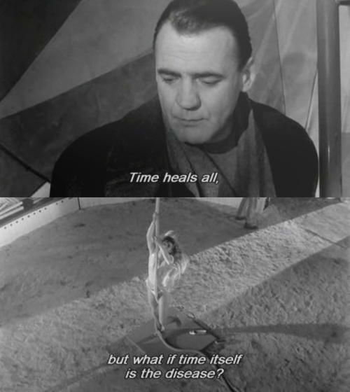 """""""Time heals all. But what if time itself is the disease?"""" ~Wings of Desire   Wim Wenders"""