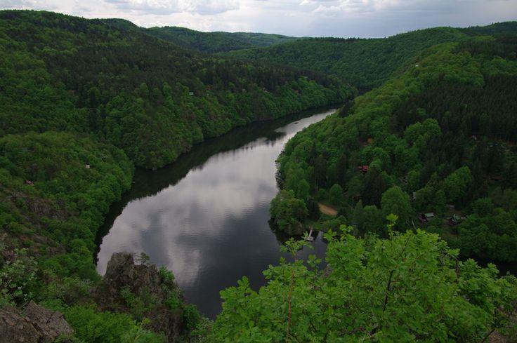river Vltava close to village Teletin