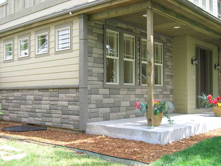 Unusual exterior color combinations realistic for Brick and stone veneer