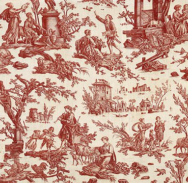 Toile de Jouy Oberkampf 1785 L'Offrande a L'Amour