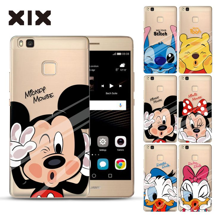 For fundas Huawei P9 lite case Mickey Kiss hard PC cover for coque Huawei P8 lite case new arrivals for Huawei P9 lite P8 lite