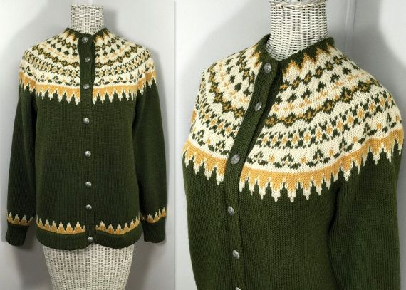 1950s 60s Norwegian Sweater // Vintage Nordic Style by WEVco