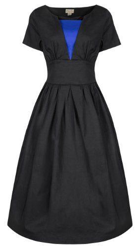 Lindy Bop 'Georgia' Chic Vintage 1950 Style Robe évasée Travail Désinvolte Dress (42, Noir) Lindy Bop http://www.amazon.fr/dp/B00GUG99NM/ref=cm_sw_r_pi_dp_3o9rub0SKZZXY