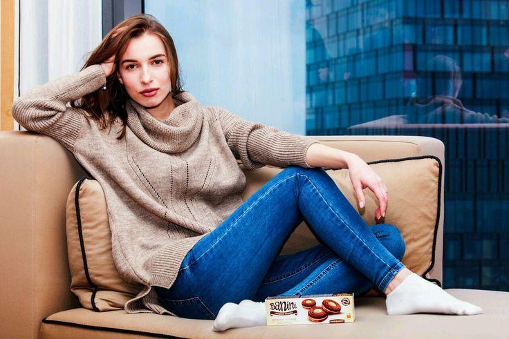 Купить Стильный и удобный женский свитер oversize - свитер, джемпер, пуловер, вязаный, с широким горлом