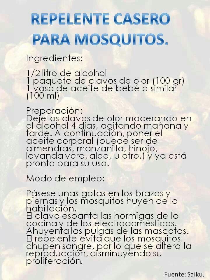 Repelente casero para mosquitos