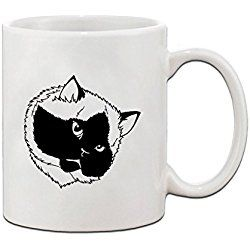 Himalayan Cat Mug Black White Ceramic Coffee Tea Mug Cup FunnyLife