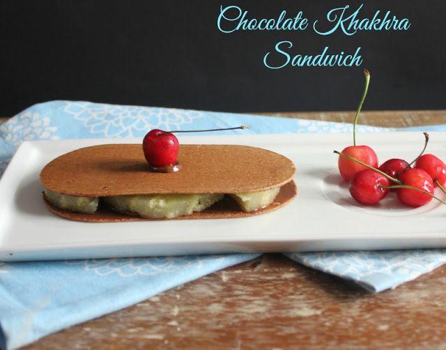 Ribbon's to Pasta's: Chocolate Khakhra Sandwich