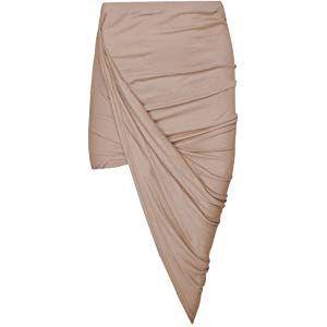 a8b740f83b60 Janisramone Women Cut Out Ruched Jersey Side Split Drape Long Midi ...