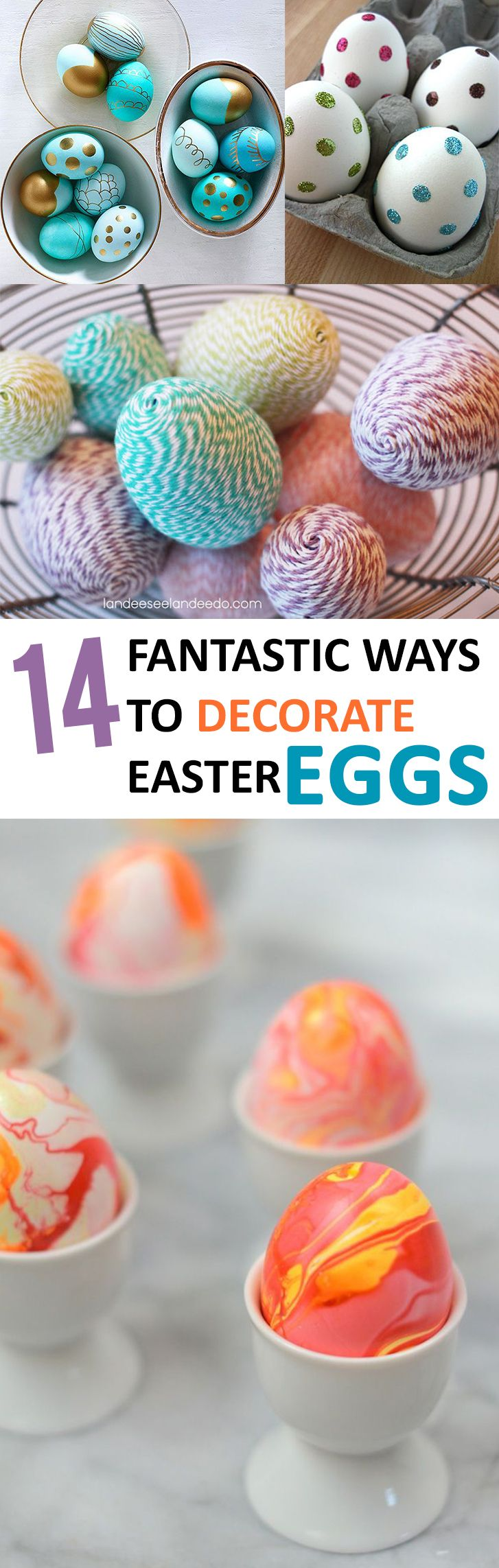14 Fantastic Ways to Decorate #Easter Eggs - #9 is really cool. Shared from @sunlitspaces