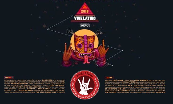 Vive Latino 2016: Lineup oficial, venta de boletos y más.