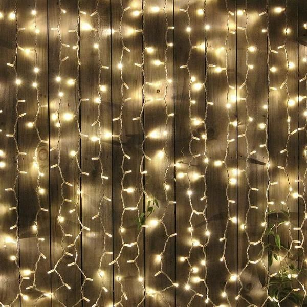30 Feet White Led Sparkling Fairy Lights Garland With Rhythmic Sequence Outdoor Hanging Lights Backdrops Outdoor Party Lighting