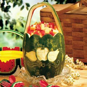 Carved Watermelon Table Topper Recipe
