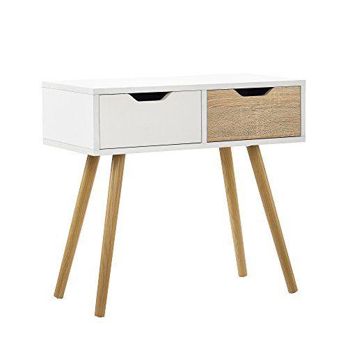 encasa® Retro Konsolentisch / Beistelltisch / Schreibtisch