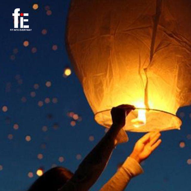 10 unids y 20 unids cielo del fuego linternas chinas deseo del partido del Festival exterior Flying fuego LampsSky Flying fuego fuego papel lámparas