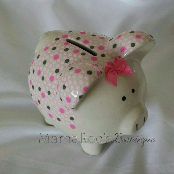 Handpainted https://www.etsy.com/listing/216090002/ceramic-hand-painted-pink-gray-piggy