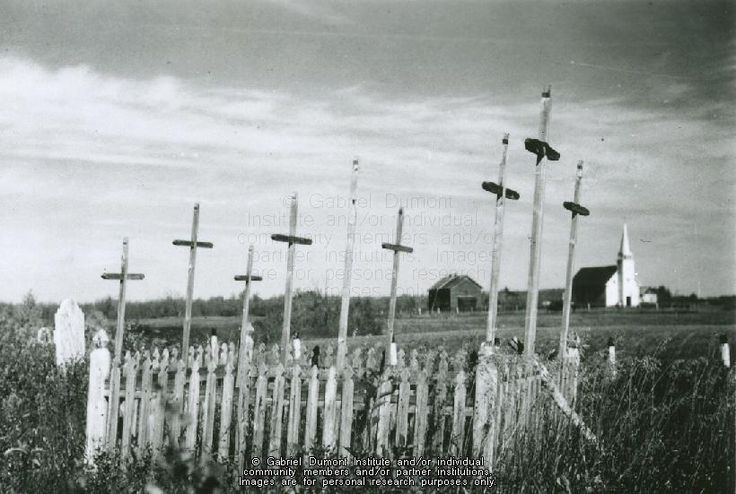 THE VIRTUAL MUSEUM OF MÉTIS HISTORY AND CULTURE. [Graves of Métis Resistance fighters at Batoche Graveyard, date unknown. JE]