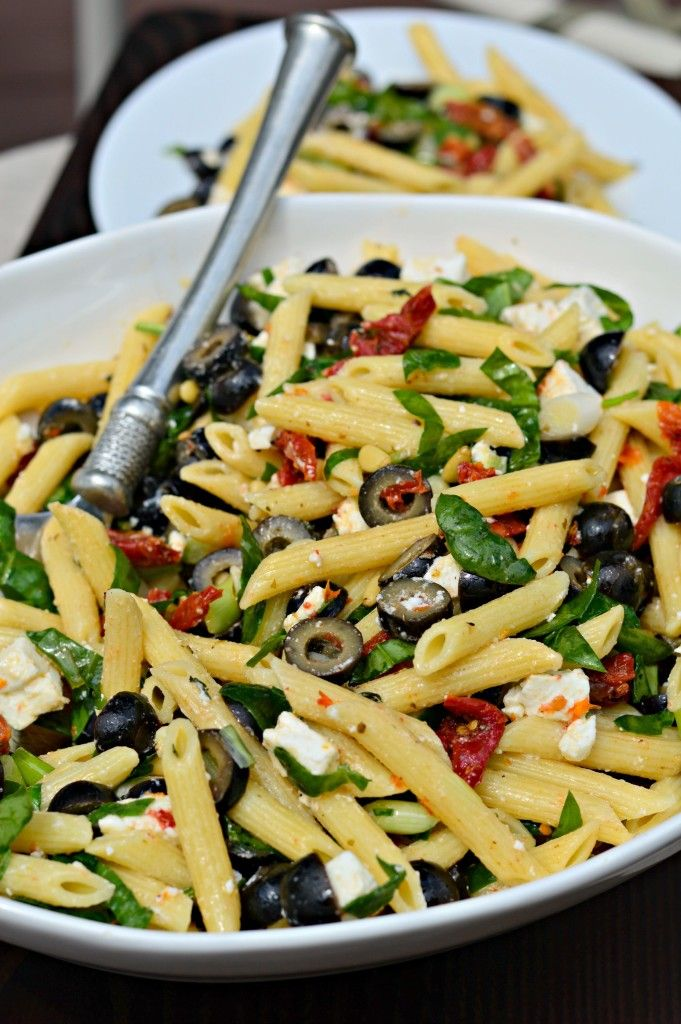 Penne Pasta Salad with Black Olives. Sun-Dried Tomatoes ...