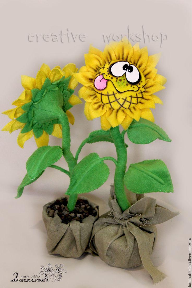 """Купить МК """"Подсолнухи"""" - желтый, подсолнух, сайлик, улыбка, солнце, мастер-класс, видео мк"""