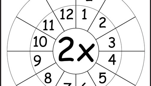 Times Table Worksheets - 1, 2, 3, 4, 5, 6, 7, 8, 9, 10, 11 ...