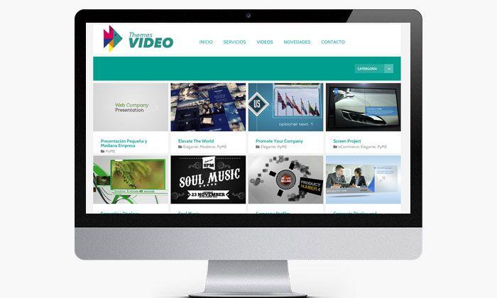 Diseño web profesinal de empresa de edición de video http://www.basicum.es/portfolio-item/diseno-web-themesvideo