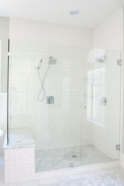 Spring Lane - traditional - bathroom - salt lake city - Tiek Built Homes. for the master bath?. Tile to celling and the frameless shower