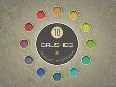 Designer Resource: Speckle Brushes made of Cocoa (free download)