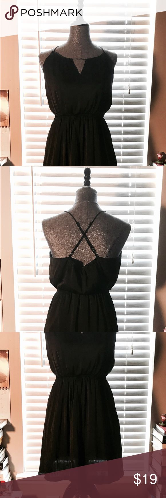 """Forever 21 Little Black Dress Never been worn! This sexy little number can be dressed up or down. Pair with a blazer for a flattering business look, wear it alone or with a belt for a day to day cause vibe. Dress comes just above the knees on me (5'4"""") material has almost a silky feel to it so even though it's more flowy, it still clings to your curves. ❤️❤️ love this item! It's so versatile. Forever 21 Dresses"""