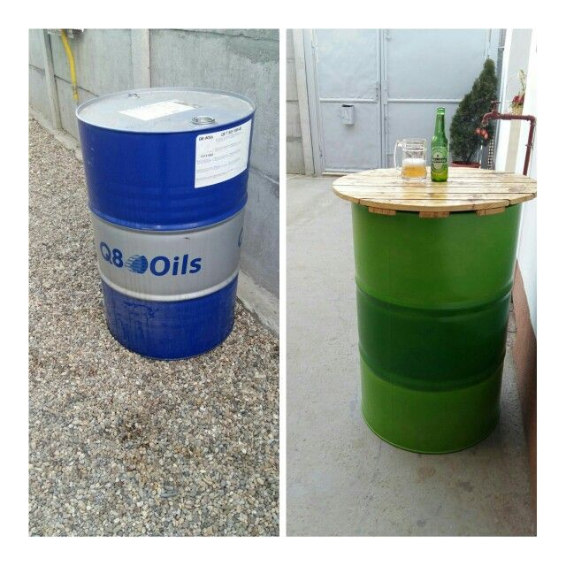 Oil barrel table