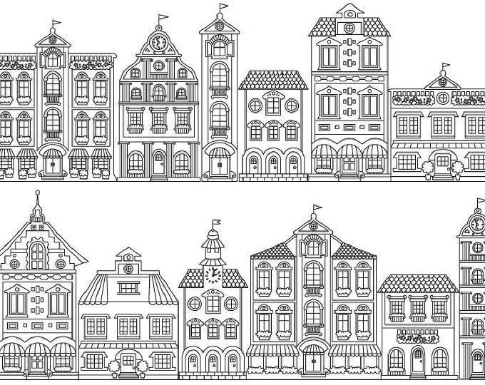 Little Houses Digital Clipart Etsy House Clipart Clip Art House Doodle
