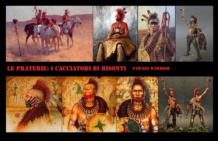 I Pawnee sono un popolo di nativi americani che abitavano nelle Grandi pianure lungo gli affluenti del fiume Missouri nel Nebraska e nel nord del Kansas.Tra i membri delle associazioni guerriere erano comuni le acconciature tipo scalp lock spesso sovrastati dai roach e tra i capi i copricapi piumati.