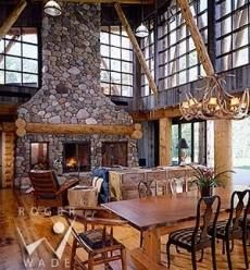 adorondack style fireplaces | Extraordinary Stone Fireplace Hearth Designs!