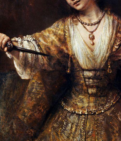 Rembrandt, Lucretia (1664)   Peinture historique, Art, Rembrandt