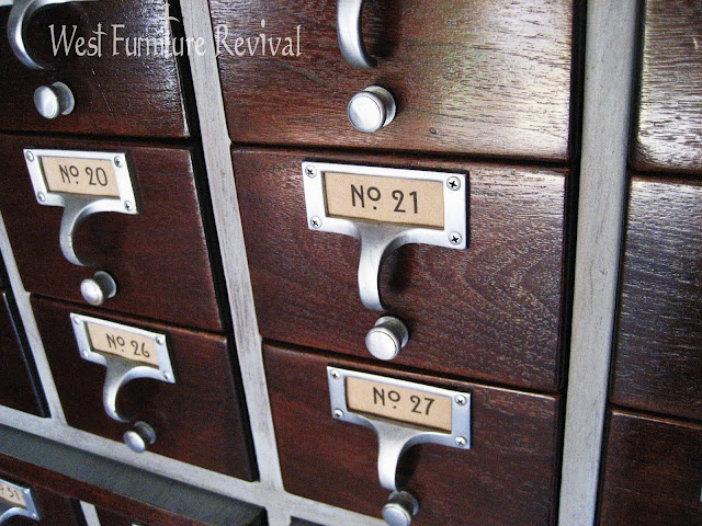 West Furniture Revival: CARD CATALOG REDO! DIY CHALKPAINT, AND FREE PRINTABLE VINTAGE LABELS