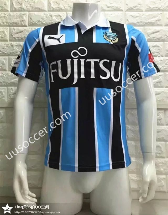 2016/17 Kawasaki Frontale Home Blue and Red Thailand Soccer Jersey AAA