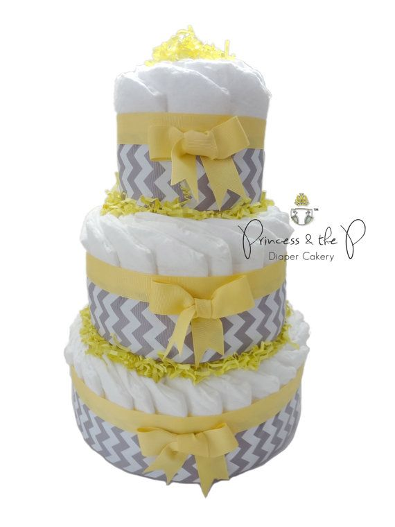 Diaper Cake Chevron diaper cake your choice by PrincessAndThePbaby