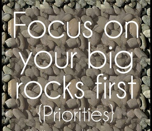 The Big Rocks of Life -- Dr. Stephen R. Covey, First Things First
