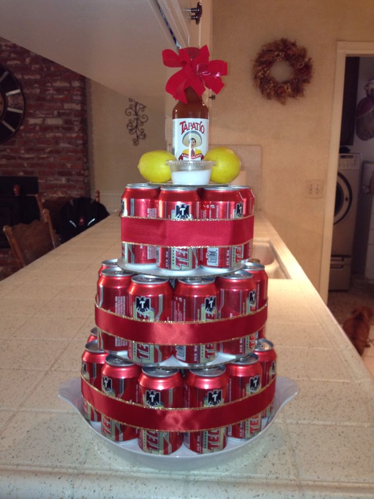 Tecate Father's Day cake