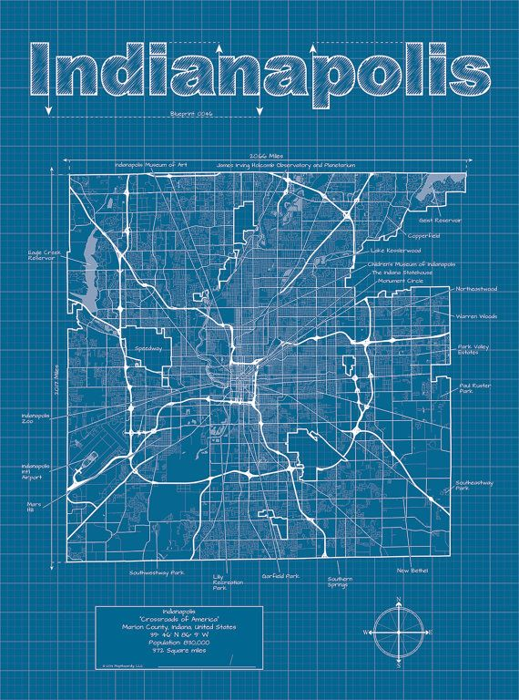 91 best city blueprints dd inspiration images on pinterest map indianapolis map original artwork indianapolis blueprint wall art gift for him street map indiana map graduation gift malvernweather