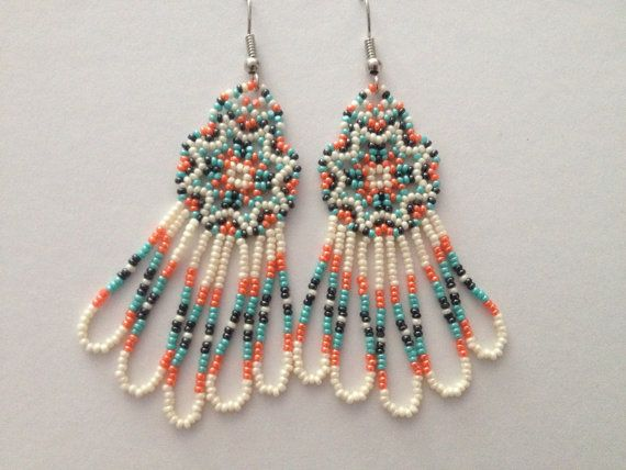 Handmade Native American Beaded Earrings by PeacefulBeadwork