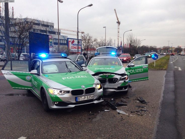 Two BMW Police Cars crash into each other - http://www.bmwblog.com/2014/12/04/two-bmw-police-cars-crash/