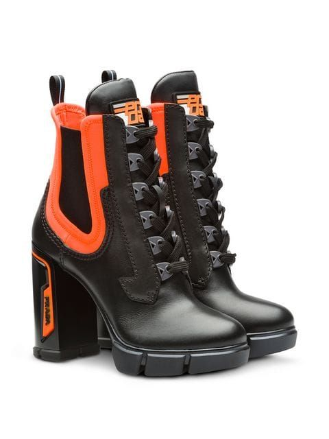 85ff38b1a44 Prada chunky lace-up boots ...