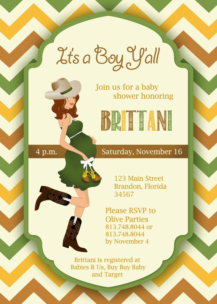 Country Baby Shower Invite By Olive Parties