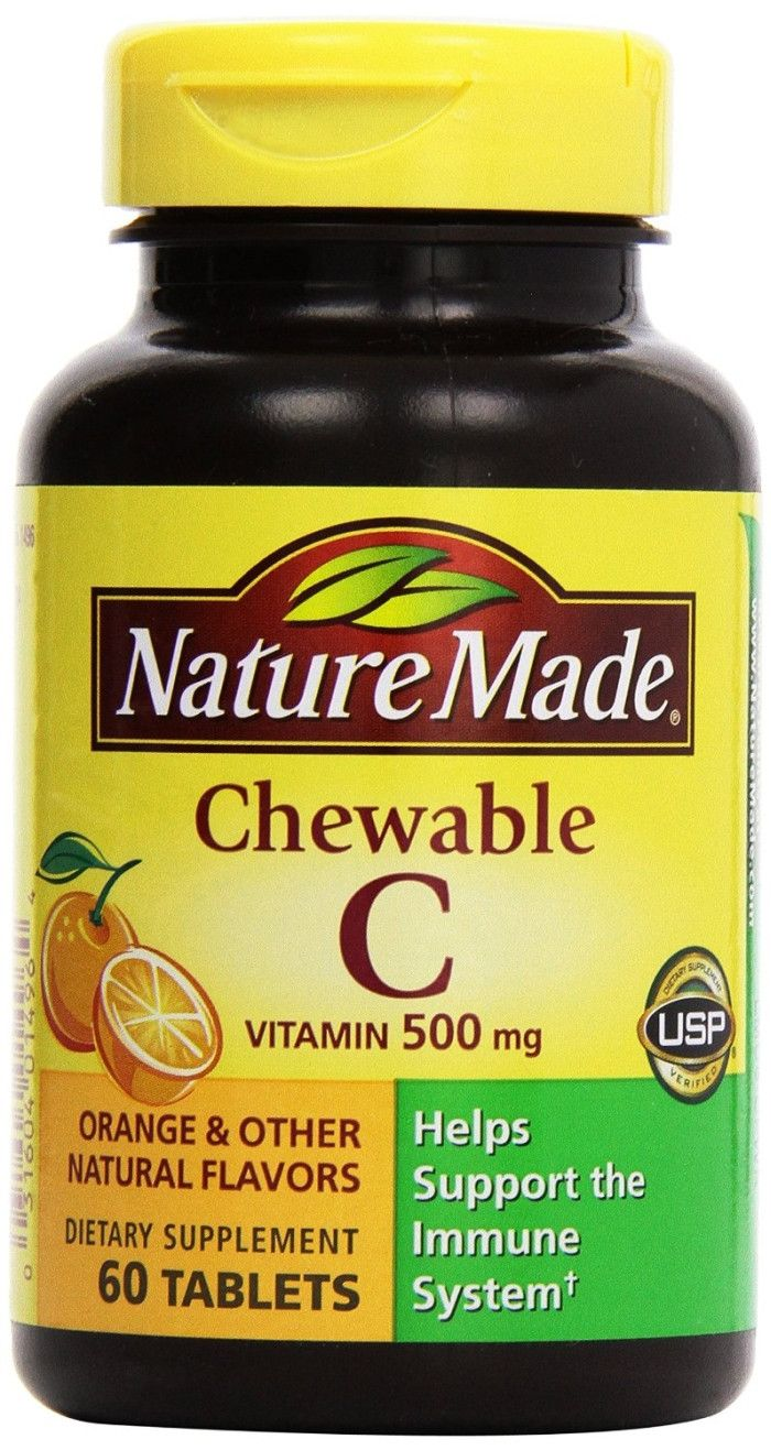 Nature Made Chewable Vitamin C - 500 mg - 60 Chewable Tablets