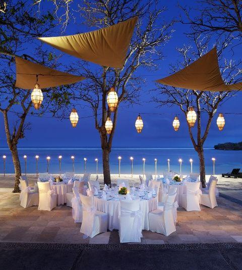 Beach Front Wedding Reception